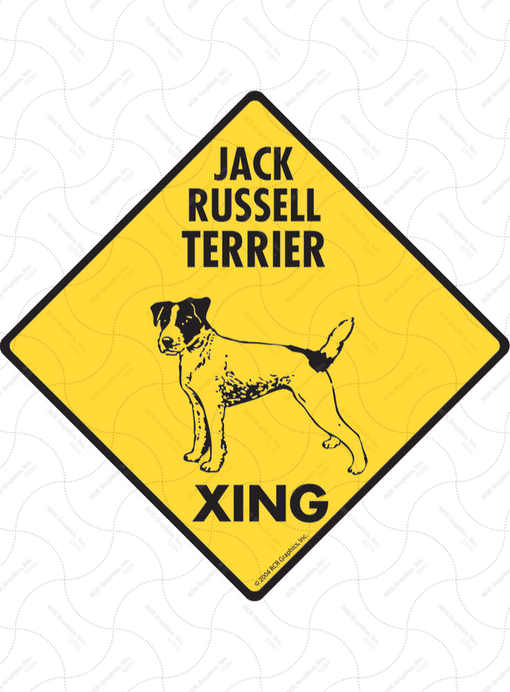 Jack Russell Terrier Xing (Crossing) Dog Signs and Sticker