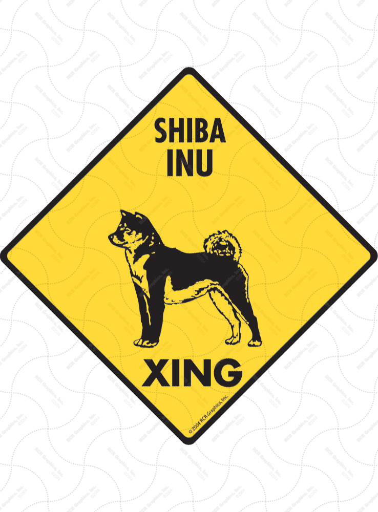 Shiba Inu Xing (Crossing) Dog Signs and Sticker