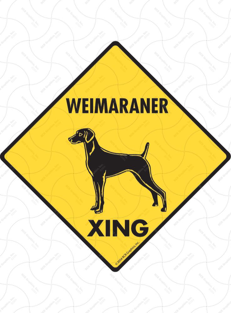 Weimaraner Dog Crossing Xing Sign New
