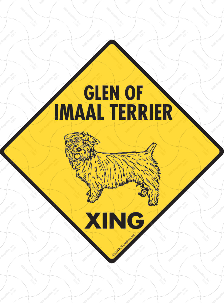 Glen of Imaal Terrier Xing (Crossing) Dog Signs and Sticker