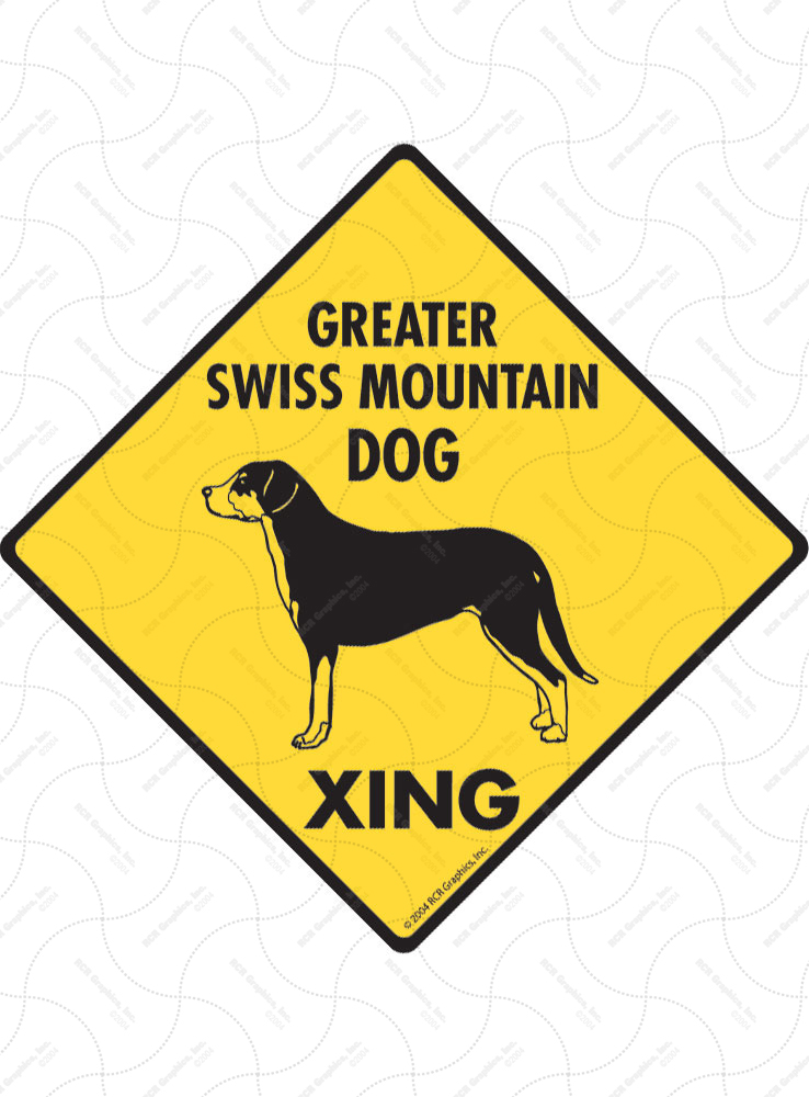 Greater Swiss Mountain Dog Xing Signs and Sticker