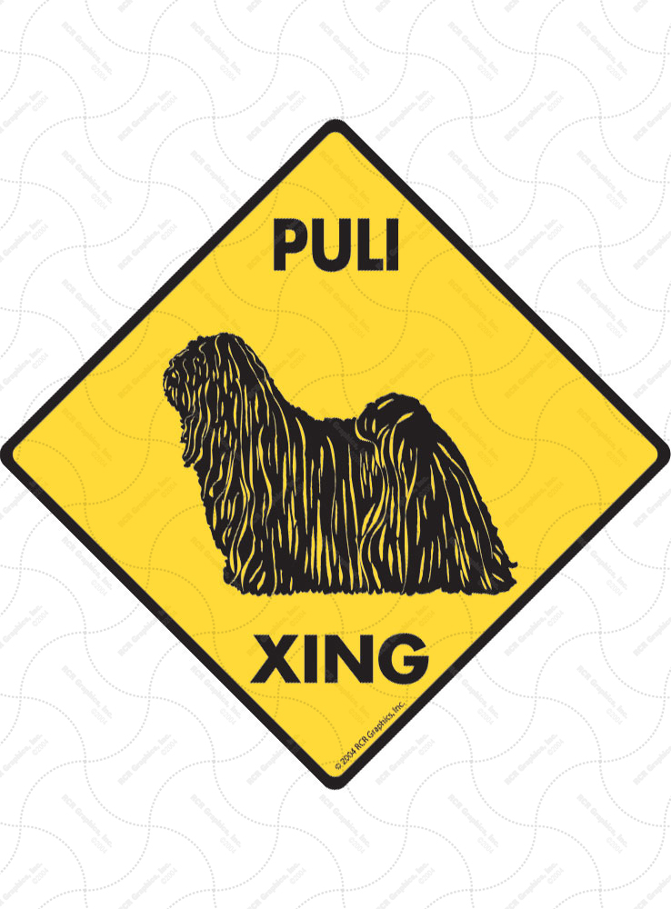 Puli Xing (Crossing) Dog Signs and Sticker