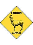 Caution! Alpacas Signs and Sticker