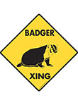 Badger Xing (Crossing) Animal Signs and Sticker