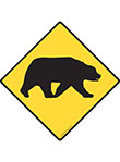 Warning! Bear Animal Signs and Sticker