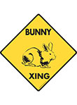 Bunny Xing (Crossing) Animal Signs and Sticker