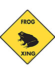 Frog Xing (Crossing) Reptile Signs and Sticker