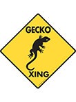 Gecko Xing (Crossing) Reptile Signs and Sticker