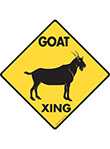 Goat Xing (Crossing) Animal Signs and Sticker