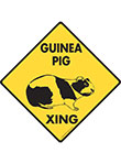 Guinea Pig Xing (Crossing) Animal Signs and Sticker