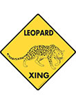 Leopard Xing Signs