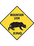 Mountain Lion Xing Signs