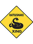 Rattlesnake Xing (Crossing) Reptile Signs and Sticker