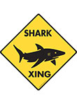 Shark Xing (Crossing) Signs and Sticker