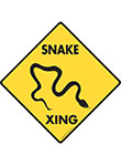 Snake Xing (Crossing) Reptile Signs and Sticker
