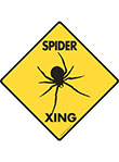 Spider Xing (Crossing) Reptile Signs and Sticker