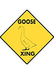 Goose Xing (Crossing) Bird Signs and Sticker