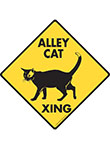 Alley Cat Xing Signs