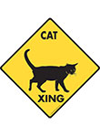 Cat Xing (Crossing) Animal Signs and Sticker