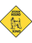 Afghan Hound Xing Signs and Sticker