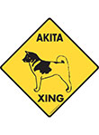Akita Xing (Crossing) Dog Signs and Sticker