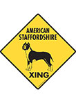 American Staffordshire Terrier Xing Signs and Sticker