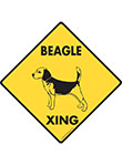 Beagle Xing (Crossing) Dog Signs and Sticker