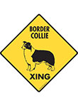 Border Collie Xing (Crossing) Dog Signs and Sticker