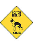 Boston Terrier Xing Signs