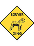 Bouvier des Flandres Xing (Crossing) Dog Signs and Sticker