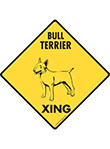 Bull Terrier Xing (Crossing) Dog Signs and Sticker