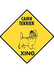 Cairn Terrier Xing (Crossing) Dog Signs and Sticker