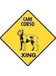 Cane Corso Xing (Crossing) Dog Signs and Sticker