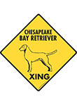 Chesapeake Bay Retriever Xing (Crossing) Dog Signs & Sticker