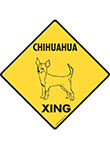 Chihuahua (Short Hair) Xing Dog Signs and Sticker