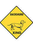 Dachshund Xing (Crossing) Dog Signs and Sticker