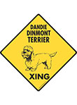 Dandie Dinmont Terrier Xing (Crossing) Dog Signs and Sticker
