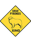 Great Pyrenees Xing Signs