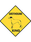 Greyhound Xing (Crossing) Dog Signs and Sticker