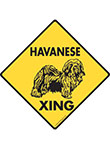 Havanese Xing (Crossing) Dog Signs and Sticker