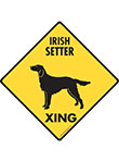 Irish Setter Xing (Crossing) Dog Signs and Sticker
