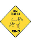 Irish Terrier Xing (Crossing) Dog Signs and Sticker