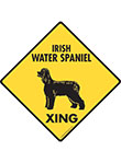 Irish Water Spaniel Xing Signs