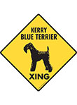 Kerry Blue Terrier Xing (Crossing) Dog Signs and Sticker