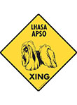 Lhasa Apso Xing (Crossing) Dog Signs and Sticker