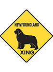 Newfoundland Xing (Crossing) Dog Signs and Sticker