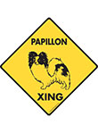 Papillon Xing (Crossing) Dog Signs and Sticker