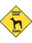 Pharaoh Hound Xing (Crossing) Dog Signs and Sticker