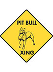 Pit Bull Terrier Xing (Crossing) Dog Signs and Sticker