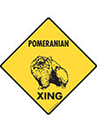 Pomeranian Xing (Crossing) Dog Signs and Sticker